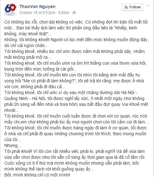 Cảm phục tinh thần sống lạc quan của MC Thảo Vân - Tin sao Viet - Tin tuc sao Viet - Scandal sao Viet - Tin tuc cua Sao - Tin cua Sao