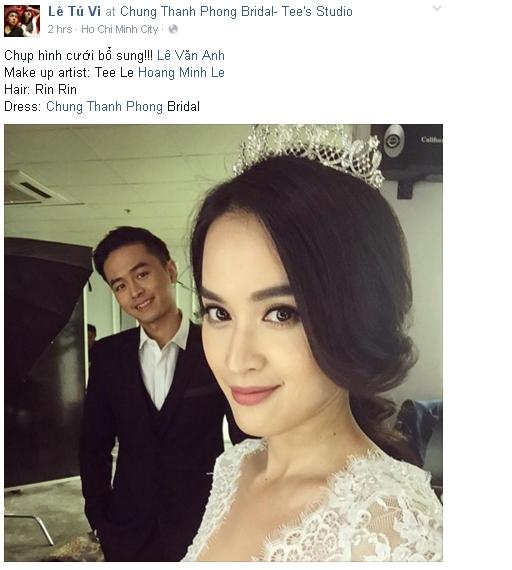 Tú Vi tiếp tục đăng tải hình ảnh mình cùng phu quân trong một buổi chụp hình cưới như một lời khẳng định với mọi người về cái kết hoàn toàn viên mãn. - Tin sao Viet - Tin tuc sao Viet - Scandal sao Viet - Tin tuc cua Sao - Tin cua Sao