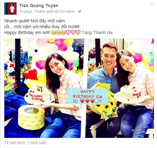 Lờichúc mừng sinh nhật của Quang Tuyến dành cho Hà Tăng. - Tin sao Viet - Tin tuc sao Viet - Scandal sao Viet - Tin tuc cua Sao - Tin cua Sao