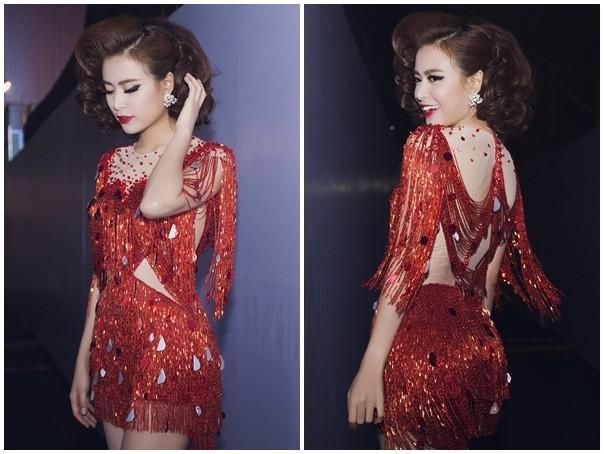 Không khó để nhận ra bộ jumpsuit này đã từng được nữ ca sĩ Hà thành diện trong đêm chung kết The Remix - Hòa âm Ánh sáng 2015.