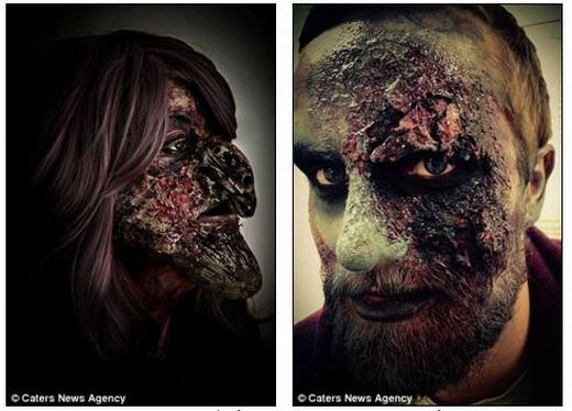 """Cận cảnh những khuôn mặt hóa trang kinh dị khiến bạn """"tè-ra-quần"""""""