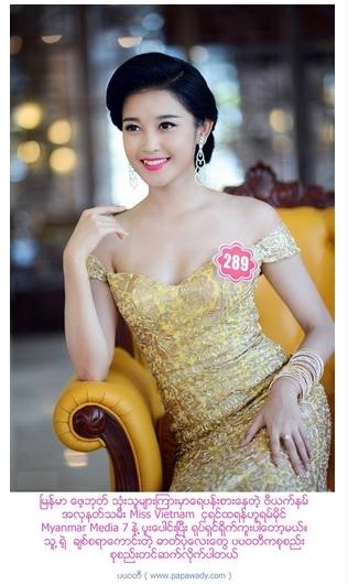 Á hậuHuyền My xuất hiện trên báo chí Myanmar. - Tin sao Viet - Tin tuc sao Viet - Scandal sao Viet - Tin tuc cua Sao - Tin cua Sao