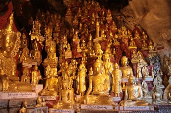 Hang động Pindaya nổi tiếng bởi có rất nhiều tượng Phật với những phong cách nghệ thuật đặc thù đã tồn tại qua nhiều thế kỉ. (Ảnh: Internet)