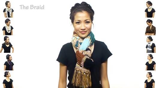 Sành điệu đón đông với 25 cách quấn khăn cực dễ và thời trang