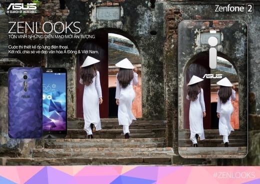 Áo dài được chọn làm chất liệu sáng tạo của các cuộc thi hình ảnh về Việt Nam. ZenLooks cũng không ngoại trừ.