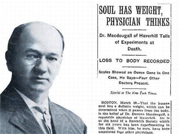 Duncan và công trình nghiên cứu về linh hồn. (Ảnh: Internet)