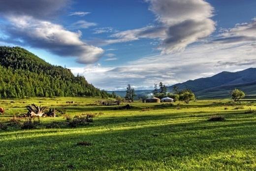 Cánh đồng cỏ xanh mướt dường nhưtrải dài đến vô tận vàbên trên là bầu trời xanh trong – cảnh vật cứ đẹp mê hồn như bước ra từ giấc mơ.(Ảnh: Internet)
