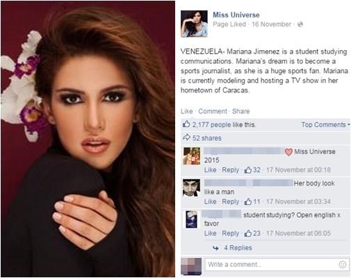 Đại diện Venezuela chỉ nhận được hơn 2.000 lượt yêu thích. - Tin sao Viet - Tin tuc sao Viet - Scandal sao Viet - Tin tuc cua Sao - Tin cua Sao