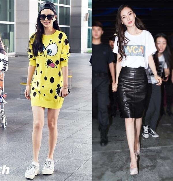 """Mĩ nhân châu Á lộ vóc dáng """"kém xinh"""" với trang phục đời thường"""