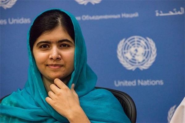 Chân dung nữ sinh Malala Yousafzai.