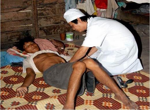 Một bệnh nhân bị sốt rét. (Ảnh: Internet)