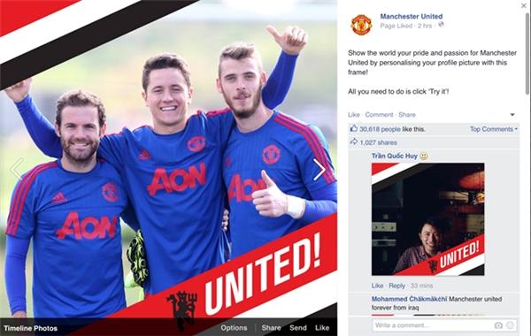 Tính năng đính kèm đội bóng yêu thích vào hình đại diện đã được Facebook giới thiệu trong hôm nay.