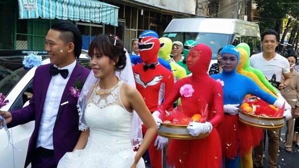 Lễ cưới vui nhộn, đáng yêu của cặp đôi diễn viên múa. (Ảnh: Internet)