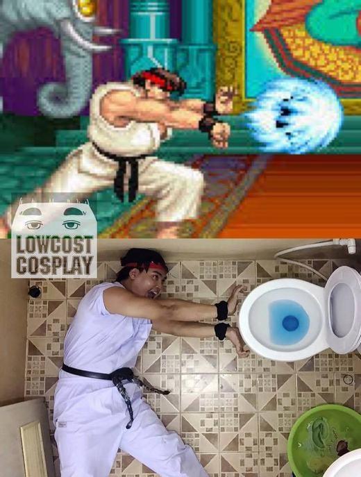 Hình như đây là võ sĩ phiên bản... mất vệ sinh nhất từ trước đến nay! (Ảnh: Internet)