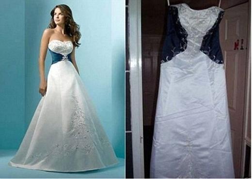 Cácchiếc váy được đăng tải trên mạngrất kiêu sa và sang trọng nhưng thực tế thì...Ảnh: Internet