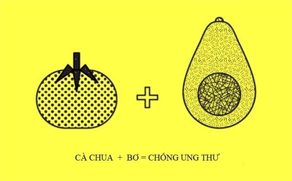 Cà chua rất giàu lycopene, chất chống oxy hóa carotenoid giúp loại bỏ các gốc tự do để phòng ngừa ung thư và bệnh tim mạch. Trong khi đó, chất béo trong quả bơ có thể kích thích chất carotenoids trong cà chua hoạt động hiệu quả hơn.