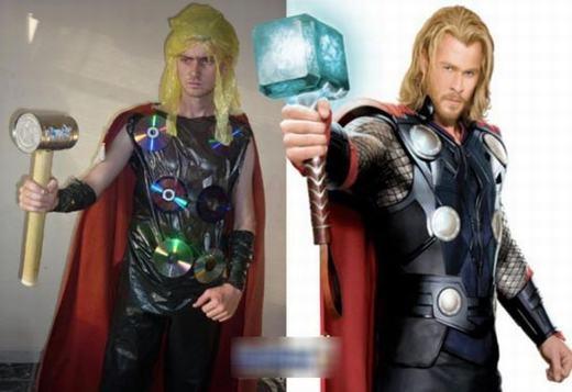 Có lẽ nào Thor thực tế lại xấu như vậy? (Ảnh: Internet)