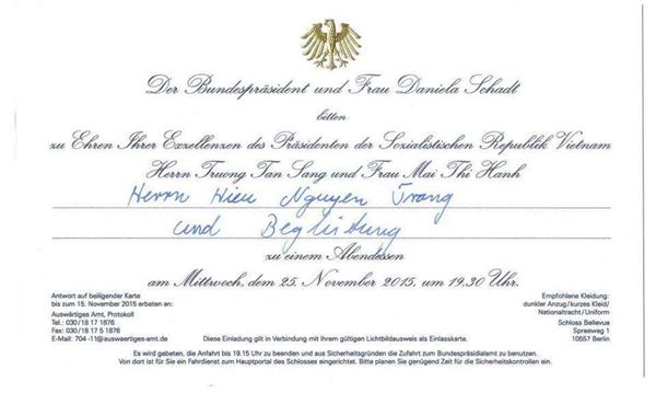 Giấy mời do đích thân Tổng thống Đức gửi tới nam ca sĩ điển trai. - Tin sao Viet - Tin tuc sao Viet - Scandal sao Viet - Tin tuc cua Sao - Tin cua Sao