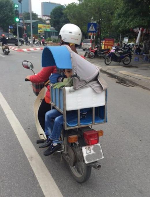 Bức ảnh về tình mẫu tử do anh Lê Quốc Việt ghi lại. (Ảnh: Internet)