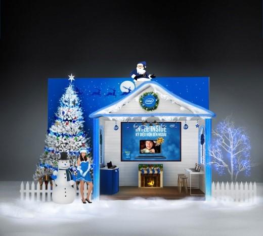 Ngôi nhà tuyết Intel với thiết kế độc đáo – điểm đến đặc biệt cho các bạn trẻ trong mùa giáng sinh này.