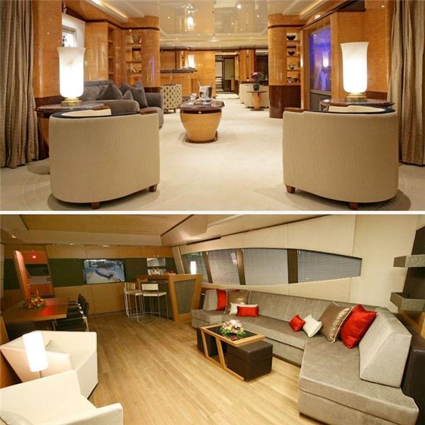 Hình ảnh nội thất bên trong du thuyền (Ảnh: Internet)
