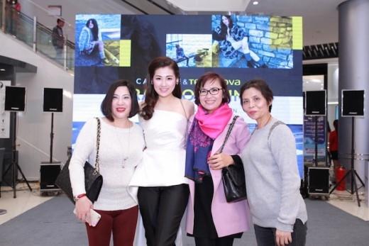 Bà Lê Hoài Anh, Đại diện thương hiệu Terranova, Calliope và Á hậu Dương Tú Anh(từ trái sang phải).