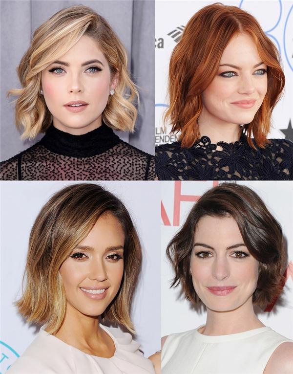 Với những cô nàng sở hữu mái tóc nhuộm sáng, rẽ ngôi lệch sẽ là lựa chọn hàng đầu.