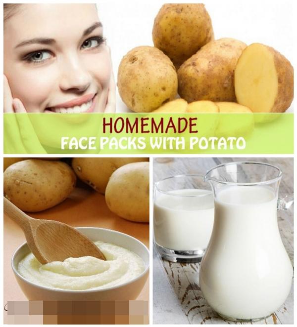 Khoai tây sữa tươi là lựa chọn đầy dinh dưỡng cho da đối với những cô nàng quá bận rộn. Khoai luộc chín, nghiền nát và trộn với sữa sẽ có hỗn hợp chăm sóc da hiệu quả rồi.