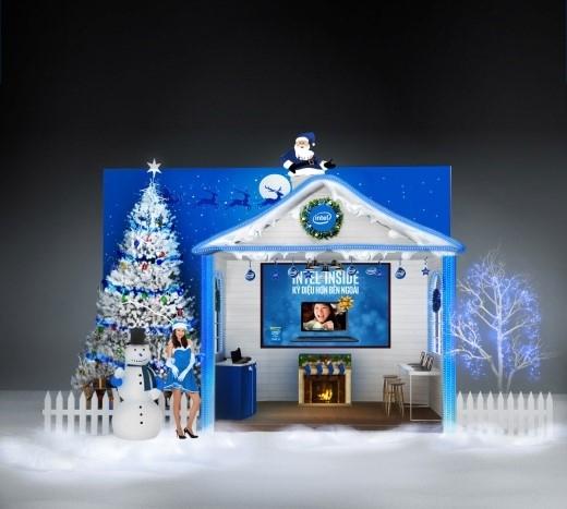 Ngôi nhà tuyết Intel mang đến trải nghiệm tuyệt vời từ bên trong.