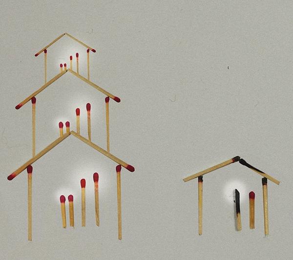 Những ngôi nhà bằngque diêm, đơn giản nhưng là nỗikhát khao của bao đứa trẻ mồ côi. (Ảnh: Internet)