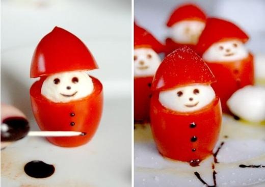 Các bạn có nghĩ nếu đĩa thức ăn mà có hình ông già Noel nhỏ nhắn, xinh xắn thế này thì sẽ hấp dẫn hơn không?(Nguồn Internet)