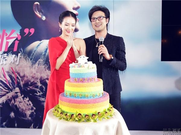 Chương Tử Di được Uông Phong cầu hôn trong bữa tiệc sinh nhật hồi đầu năm.