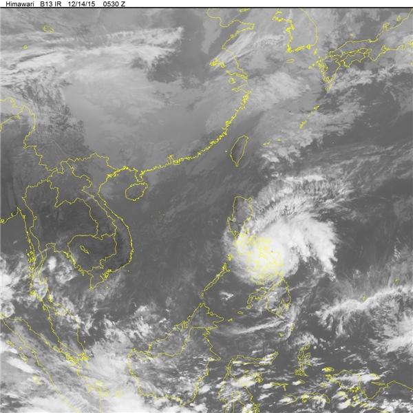 Hình ảnh cơn bão khủng khiếp này thông qua vệ tinh. (Ảnh: Trung tâm khí tượng thủy văn)