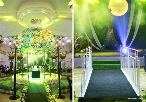 Khung cảnh nước Pháp được tái hiện trong lễ cưới của cặp đôi Hà Thành. (Ảnh: Internet)
