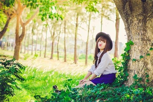 Một bức ảnh đáng yêu của cô nàng 9x Phú Luôn. (Ảnh: Internet)
