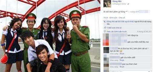 """Đông Nhi cũng không hề kém cạnh khi có fanpage với 6,4 triệu người thích. Bức ảnh hậu trường bộ phim """"Giải cứu thần chết"""" đăng vào ngày 6-2-2013 khiến """"dân tình"""" xôn xao vì sự đáng yêu của dàn diễn viên trai xinh, gái đẹp. Hơn 935 nghìn """"like"""" và hơn 1000 lượt chia sẻ là con số kỉ lục và đáng ngưỡng mộ với bất cứ nghệ sĩ trẻ nào - Tin sao Viet - Tin tuc sao Viet - Scandal sao Viet - Tin tuc cua Sao - Tin cua Sao"""