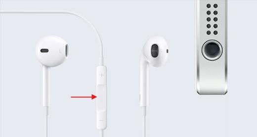 Nếu nhấn nút giữa EarPods 1 lần, thiết bị sẽ chơi, tạm dừng hoặc tiếp tục một bài hát/ video mà bạn đang mở. (Ảnh: Internet)
