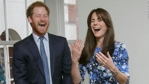 Hoàng tử nước Anh Harry và chị dâu Catherine trong một sự kiện từ thiện ở London. (Ảnh: CNN)