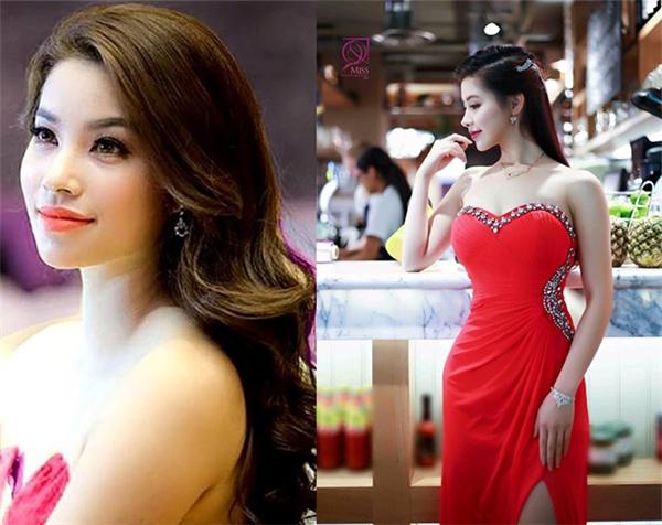 Ở góc chụp này,Mỹ Ngọcđược nhiều người nhận xét cô khá giống với hoa hậu Phạm Hương. (Ảnh Internet)