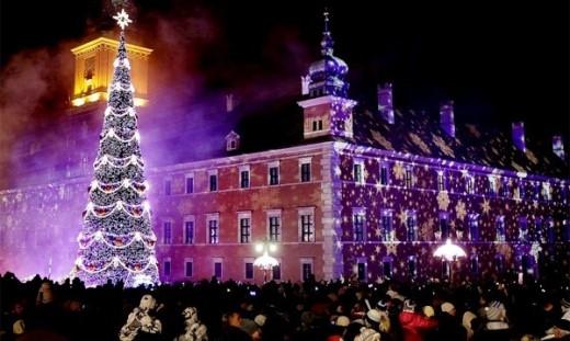 """Những cây thông khổng lồ được trang trí rực rỡ ở các khu vui chơi, trung tâm thương mại, cửa hàng… cũng là một """"tín hiệu"""" báo với chúng ta một mùa Giáng sinh an lành, một mùa lễ hội đang đến.(Ảnh Internet)."""
