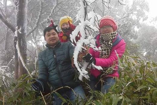 Băng giá sáng ở Phia Oắc, huyện Nguyên Bình, tỉnh Cao Bằng. Ảnh: Bình Nguyên/Vnexpress.net