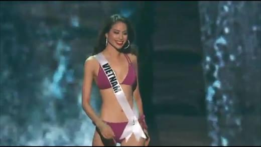 Các màn trình diễn đầy tự tin của Phạm Hương tại bán kết Miss Universe