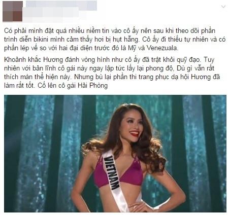 Tuy vậy vẫn có một vài ý kiến trái chiều đượcđưa ra màn thể hiện của Phạm Hương trong phần trình diễn bikini. - Tin sao Viet - Tin tuc sao Viet - Scandal sao Viet - Tin tuc cua Sao - Tin cua Sao