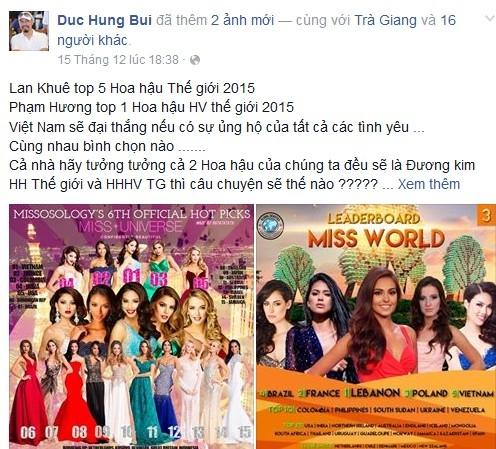 Sao Việt dự đoán Phạm Hương lọt top 3 Hoa hậu Hoàn vũ - Tin sao Viet - Tin tuc sao Viet - Scandal sao Viet - Tin tuc cua Sao - Tin cua Sao