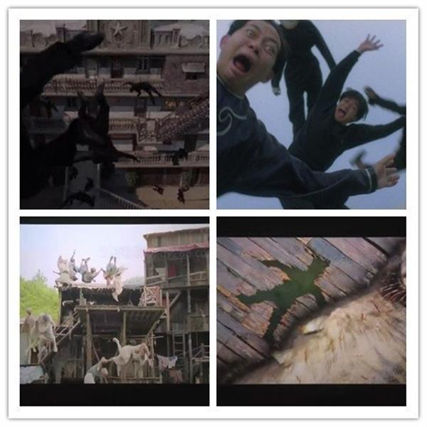 Những cảnh hành động khoa trương vốn thường gặp trong phim hoạt hình cũng hay xuất hiện trong phim của Châu Tinh Trì.