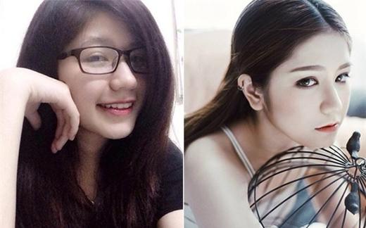 Hot girl An Japan trông chín chắn, trưởng thành hơn sau khi đeo kính áp tròng.(Ảnh: Internet)