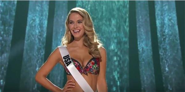 Người đẹp Olivia Jourdan -đại diện Mỹ - với lợi thế chủ nhà đã lôi cuốn được sự ủng hộ đông đảo của khán giả xem trực tiếp. - Tin sao Viet - Tin tuc sao Viet - Scandal sao Viet - Tin tuc cua Sao - Tin cua Sao