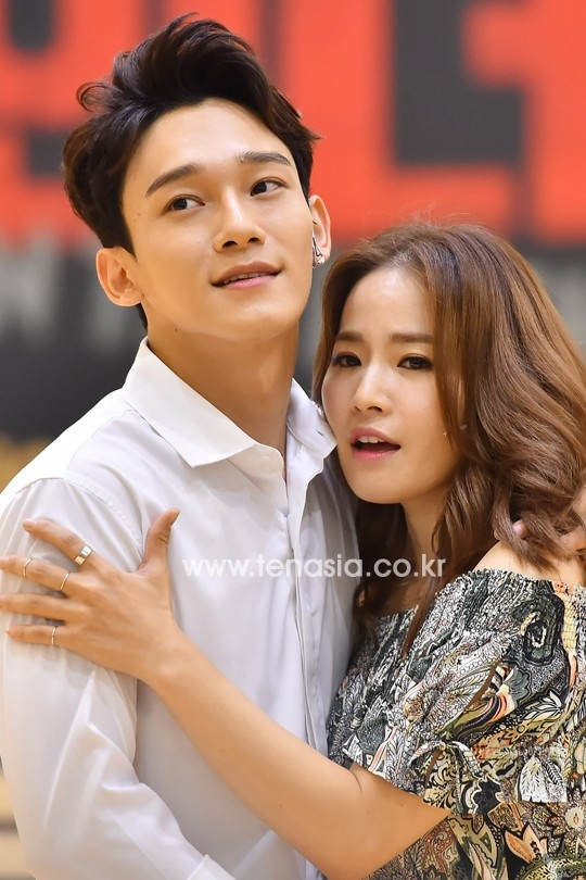 Chen và bạn diễn, nữ ca sĩ Kim Bo Kyung