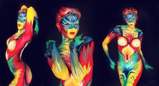 """Hãy cùng tôn vinh vẻ đẹp diệu kỳ của làn da với màn trình diễn """"body painting"""" ánh sáng độc đáo nhất từ trước đến nay. (Ảnh: Internet)."""