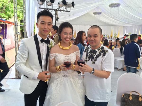 Nguyễn Quốc Đức cùng cô dâu Ngọc Chinh. (Ảnh: Internet)